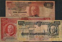 3 NOTAS BANCO DE ANGOLA - PORTES GRÁTIS - Angola