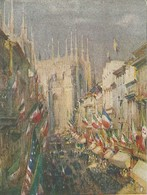 """982 """"MILANO - G. GREPPI - 24 MAGGIO 1915 - PROPAGANDA PRIMA GUERRA MONDIALE. """" CARTOLINA POSTALE ORIG.  SPED. - Guerra 1914-18"""