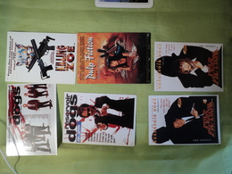 LOT DE 6 CPM CINEMA QUENTIN TARANTINO. 2 RESERVOIR DOGS / 1 KILLING ZOE / 3 PULP FICTION - Postcards