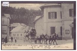 DISTRICT DE NYON - ST CERGUE - DEPART DE LA POSTE - ATTELAGE - DILIGENCE - TB - VD Vaud