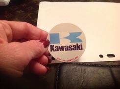 Autocollant Biscotte Corvisart Publicité Kawasaki - Stickers