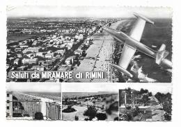 SALUTI DA MIRAMARE DI RIMINI - VIAGGIATA FG - Rimini