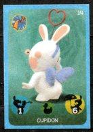 IM111 : Carrefour Panini Lapins Crétins Carte N°14 Cupidon (feutrine) - Trading Cards