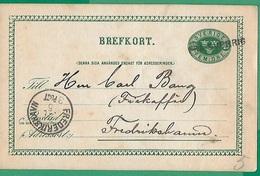 ! - Suède - Carte Postale   - Cachet De 1892 - Envoi De Frederikshavn Vers Frederikshavn - Enteros Postales