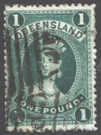 Queen Victoria  LARGE SIZE 5/- THIN PAPER SG 165 - 1860-1909 Queensland