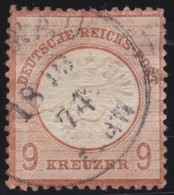 Deutsches  Reich   .    Michel   .    27     .     O     .     Gebraucht   .   /     .    Cancelled - Alemania