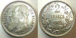 N°196 : 2 Franc 1909 FR Léopold II  *SUP* - 1865-1909: Leopold II