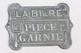 """Jeton De Brasserie Parisienne En Zinc """"La Bière - Pièce Garnie"""" Paris - Restaurant Token - Professionals / Firms"""