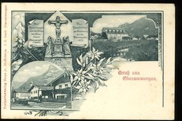 Gruss Aus Oberammergau Hospe Postkartenverlag Gastl Staffelstein Coin Supérieur Droit Plié Gefaltete Obere Rechte Ecke - Oberammergau