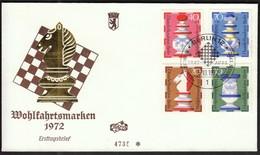 Germany Berlin 1972 / Wohlfahrtsmarken / Chess / FDC - Echecs