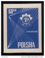POLAND 1957 POZNAN 26TH INTERNATIONAL TRADE FAIR COLOUR PROOF NHM ( NO GUM) - Organizations