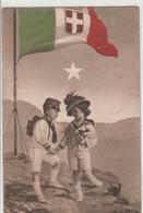 CARTOLINA - MILITARE CON BAMBINI - TIMBRO SUL RETRO  - POSTA MILITARE - DIVISIONE SPECIALE.....F6 - Guerra 1914-18
