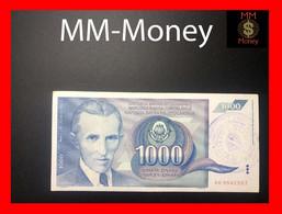 BOSNIA 1.000 Dinara   P. NL Overprint  Zavot Za Platni Promet  XF \ AU - Bosnië En Herzegovina