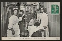 75 - PARIS 13 - Hôpital BROCA - Service D'Électrothérapie ++++ ELD / AP, #13 ++++ 1910 ++++ RARE - District 13
