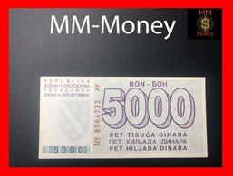 BOSNIA 5.000 Dinara 1.8.1992  P. 27  AU - Bosnia And Herzegovina