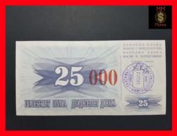 BOSNIA 25.000 Dinara  24.12.1993 P. 54 H Sarajevo  UNC - Bosnia And Herzegovina