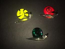 Lotto Tre Lumache In Vetro Di Murano Murrine - Glass & Crystal