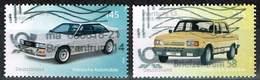 Bund 2018, Michel# 3367 - 3368 O Automobile  Audi Quatro / Wartburg 1.3 - BRD