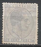 Cuba 1880. Scott #91 (M) King Alfonso XII * - Cuba (1874-1898)