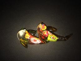 Lotto 2 Delfini In Vetro Di Murano Murrine - Glass & Crystal