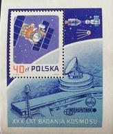Poland 1987 1st .Artificial Satellite, Sputnik,30th. Anniv. S/S - 1944-.... Republic