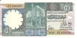 LIBYE 1/4 DINAR ND1990 UNC P 52 - Libye