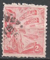 Cuba 1950. Scott #446 (U) Liberty Carrying Flag And Cigars * - Cuba