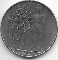 Italy 100 Lire 1964    Km 96.1  Xf+ - 1946-… : République