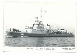 CPSM Marine De Guerre Dragueur Aviso LA GRACIEUSE ( 1940/ 1958 ) Ed Marius Bar Toulon - Guerra