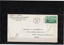 LBR40B - USA LETTRE AVION KENT / NANCY 6/12/1948 - Etats-Unis