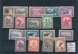 BELGIAN CONGO  BOX 2 ETHNIC SET COB 168/183 MNH - Belgisch-Kongo
