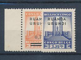 BELGIAN CONGO RUANDA URUNDI 1941 ISSUE  ALBERT 'S MEMORIAL COB 124/125 MNH - Ruanda-Urundi