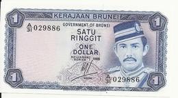 BRUNEI 1 RINGGIT 1985 UNC P 6 C - Brunei
