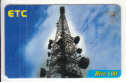 ETHIOPIA - Antenna, ETC Prepaid Card 100 Birr, Exp.date 21/11/10, Mint - Ethiopia