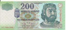 HONGRIE 200 FORINT 2001 UNC P 187 A - Hungary