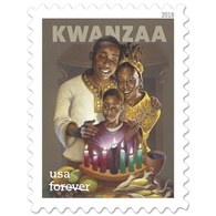 Stamps USA 2018. KWANZAA. 20 Stamps. Sheet. - Unused Stamps