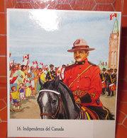 INDIPENDENZA DEL CANADA  N. 16 STICKER ADESIVO CON VELINA NEW VINTAGE - Adesivi