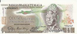 GUATEMALA  50 CENTAVOS DE QUETZAL 1983 UNC P 58 C - Guatemala