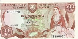 CHYPRE 500 MILS 1982 UNC P 45 - Chypre
