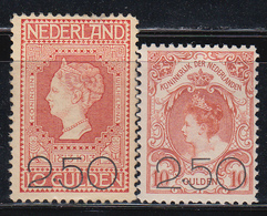 1920  YVERT Nº 96 / 97  /*/ - Periodo 1891 – 1948 (Wilhelmina)