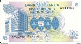 OUGANDA 5 SHILLINGS ND1979 UNC P 10 - Ouganda