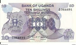 OUGANDA 10 SHILLINGS ND1982 UNC P 16 - Ouganda