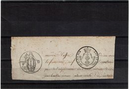 LBR40B - TIMBRE HUMIDE SUR FRAGMENT (1816?) - Marcophilie (Lettres)