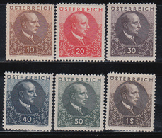 1930  YVERT Nº  393 / 398   /*/ - 1918-1945 1. Republik