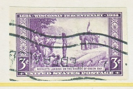 U.S.  755  Imperf.   (o)  WISCONSIN   SPECIAL  PRINTING - Used Stamps