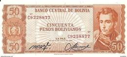 BOLIVIE 50 PESOS BOLIVIANOS  L1962 UNC P 162 - Bolivie