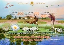 Kazakhstan 2015 Mih. 863/65 (Bl.64) Fauna. Naurzum Nature Reserve MNH ** - Kazakhstan