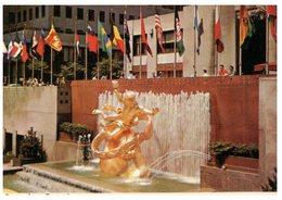 (333) USA - Prometheus Fountain - New York City Rockfeller Center - Monuments