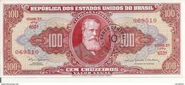 BRESIL100 CRUZEIROS ND1966-67 UNC P 185 A - Brazil
