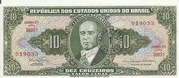 BRESIL 10 CRUZEIROS ND1966-67 UNC P 183 B - Brazil
